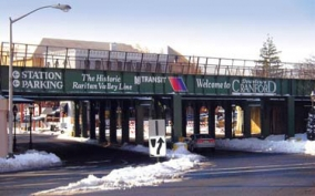 Exterior Logo and Lettering of Cranford, NJ Bridge. Sandblasting and Painting and Color Coding