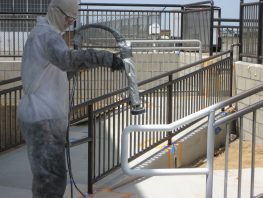Railings, lockers and equipment can be brought back to that fresh factory finish in no time at all.  Electrostatic Painting