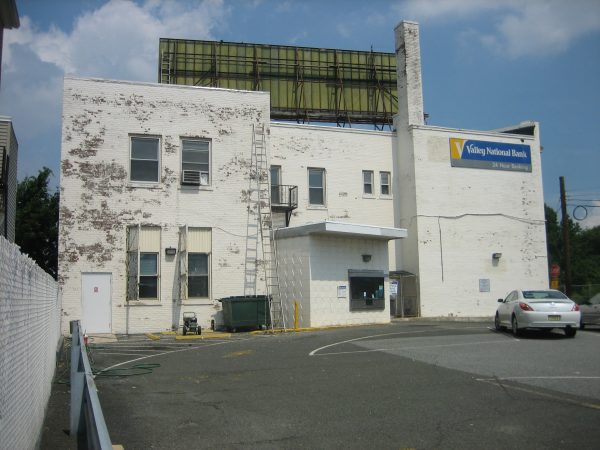 Side view of Valley National Bank East Newark from Sherman Ave before painting. Banks